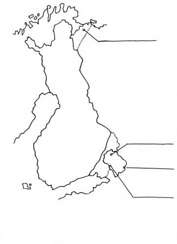 Luostarien sijainnit kartta