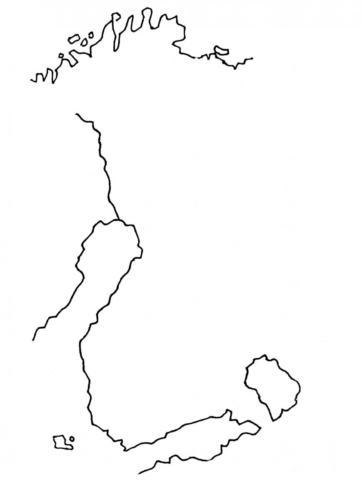 Suomen kartta ilman rajoja
