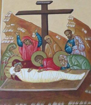 kristus lasketaan hautaan