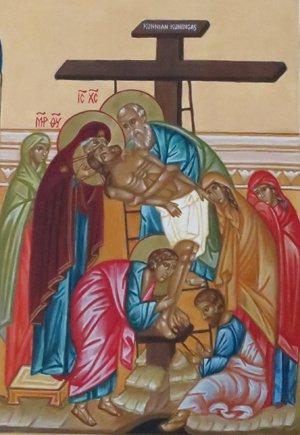 kristus otetaan ristilt