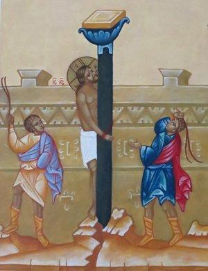 kristusta ruoskitaan